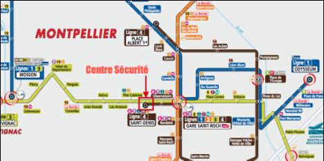 plan d'accès jusqu'à notre boutique en Tram