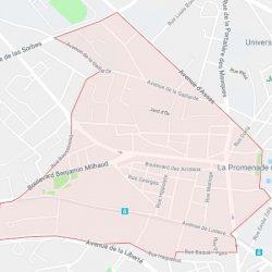 carte du quartier des Arceaux à Montpellier