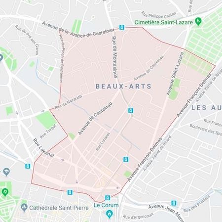 plan du quartier des beaux-arts