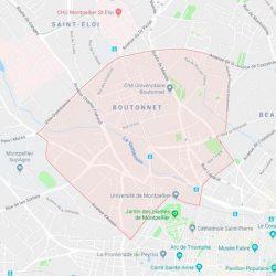 plan du quartier boutonnet