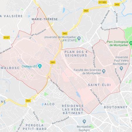 plan quartier Hôpitaux-Facultés