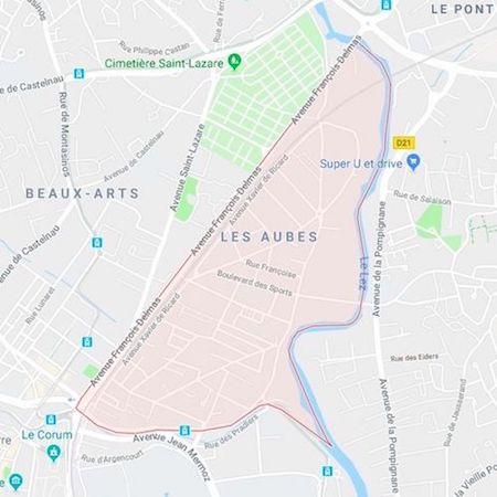 plan du quartier des Aubes