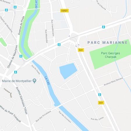 plan de Port-Marianne